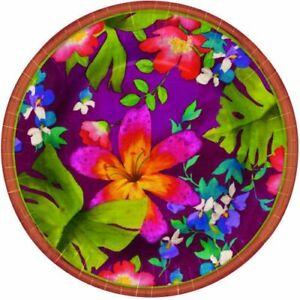 "Jungle Floral Summer Luau Party 10.5"" Banquet Plates"
