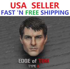 1/6 scale Tom Cruise Head Sculpt Edge of Tomorrow for 12'' Male Figure PHICEN