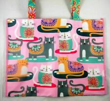 Cats Kittens with Flowers on Them New Xlg Waterproof Tote Bag More Available