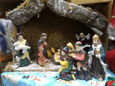 Presepe in porcellana e legno originale Thun decorazione natalizia
