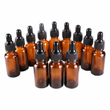 12 x 30ml Brown Amber Glass Bottles with Glass Pipette Dropper - Aromatherapy