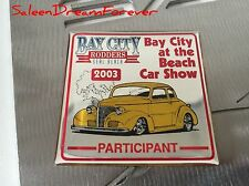 2003 SEAL BEACH BAY CITY RODDERS CAR SHOW CA METAL PLAQUE HOT ROD FORD GT CHEVY