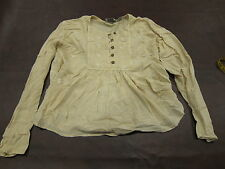 Vintage 80s Natural Cream Tan Blouse Shirt Embroidered Hippy Peasant Bhag's
