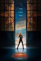 "Brie Larson Captain Marvel Silk Fabric ART Decor Movie Poster 18x12 36x24 40x27/"""