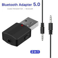 in 1 Bluetooth 5.0 Adapter USB Transmitter Digital Devices Music Audio Receiver