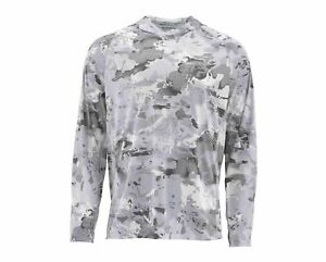 SIMMS M's SolarFlex Hoody - Print Size XL Color: Cloud Camo Grey