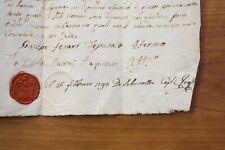 Original  Document 1700's Lamone