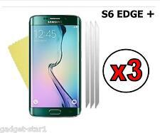 3x Hq Cristal Transparente Screen Protector Cover Para Samsung Galaxy S6 Edge + Plus