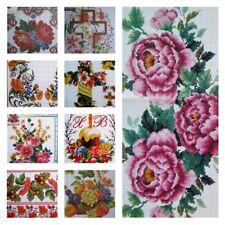 R-40 Cross Stitch Flower Border Patterns in Ukrainian style Easter Table Runner