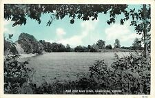 Vintage Postcard Rod and Gun club Greenville IL bond County