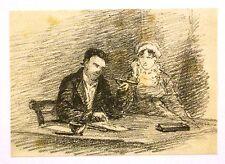 Figura Estudios hombre y mujer en un escritorio Wm Fred witherington Lápiz c1810-20