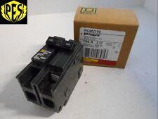 New In Box Nib Square D Hom2100 2 Pole 100 Amp Plug On Breaker Hom
