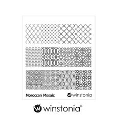 Winstonia Nail Art Stamping Image Plate MOROCCAN MOSAIC Disc Template Stencil