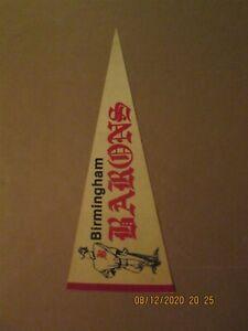 Southern League Birmingham Barons Vintage Circa 1970's Team Logo Pennant