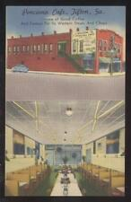 Postcard TIFTON Georgia/GA  Ponciana Cafe/Diner Restaurant Dual view 1940's