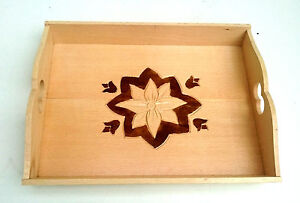 """Wooden carved tray , display tray , home decoration 14,5"""" wide , handcarved tray"""