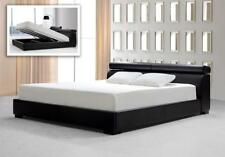 Soflex Garland Modern Black Leatherette Eastern King Bed with Storage