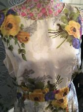 Monsoon Maddox Gold Floral Pleated  Dress 14 Posting  Daily Holiday