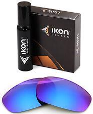Polarized IKON Iridium Replacement Lenses For Oakley Split Jacket Purple Mirror