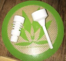 Domeless Ceramic Nail (High Quality) 14mm/18mm MALE W/Carb Cap & Free Dab Tool!