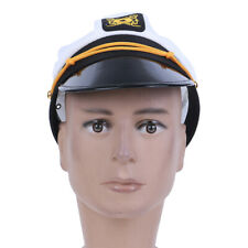 White Yacht Captain Skipper Sailer Boat Cap Hat children stage Prop CC