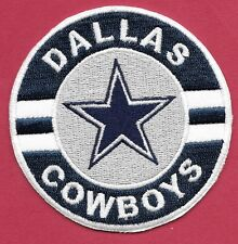 """New Dallas Cowboys 'Silver Round' 10 """" Inch Iron on Patch Free Shipping"""