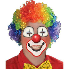 Party Disco Rainbow Afro Clown Hair Football Fan Adult Child Costume Curly Wi hi