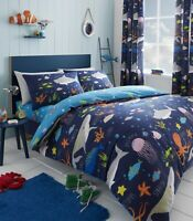 Sea Life Glow in the Dark Reversible Duvet cover set and Accessories by Bedlam