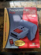 Vintage Nintendo N64 Memory Card Plus Tremor Pak 3rd Party Complete CIB Manual