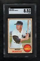 1968 TOPPS #280 MICKEY MANTLE HOF YANKEES SGC 8.5 NM/MT++ W 9.0 QUALITIES!