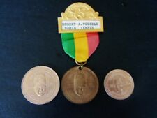 MASONIC SHRINE 97TH IMPERIAL SESSION,3 PART BADGE & TWO COINS,MIAMI BEACH, 1971