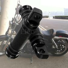 Models Black CNC Rear Front Foot Pegs For Harley Touring Sportster Dyna Softail