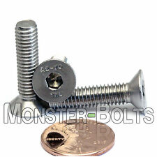 M6-1.0 x 25mm - Qty 10 - DIN 7991 Stainless Steel FLAT HEAD Socket Cap Screws A2