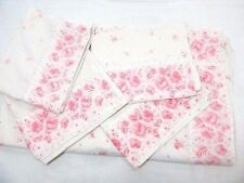 Cannon Grand Manor Pink Rosebud Floral 5-Pc King Flat Sheet and Pillowcases