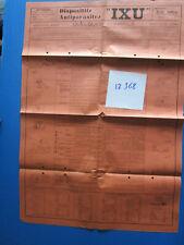 N°12368 / dépliant affichette dispositif antiparasite IXU Ets Jullien Dijon 1936