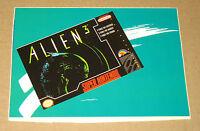 Alien 3 Super Nintendo very rare promo Sticker 16x11cm