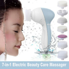 Multifunction 7 in1 Waterproof Electric Face Facial Cleansing Brush Spa Massager