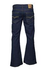 Men's LCJ Denim Flare Stretch Indie Jeans 70s Indigo Bell Bottoms LC16 All Sizes