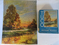 Vintage Tuco Deluxe Picture Puzzle Cottage on Lake