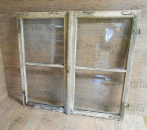 Altes Fenster, Holzfenster, shabby chic, Sprossenfenster, grünlich
