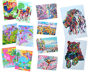 Paint By Numbers Adult Kids Animals Scenery Painting Children Craft Gifts Paints