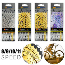 VG Sports 6/7/8/9/10/11 Speed Bicycle Chain Half-Hollow 116L MTB Road Bike Chain