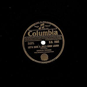 CHARLES PENROSE 78 LETS HAVE A JOLLY GOOD LAUGH / LAUGHTER & BASSOON  DB 2602 E