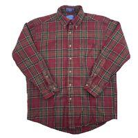Vintage Sir Pendleton Mens Long Sleeve Wool Plaid Button Down Shirt Medium