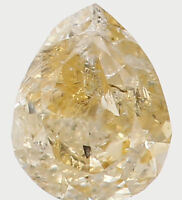 Natural Loose Diamond Yellow Color Pear I2 Clarity 3.50 MM 0.13 Ct L5613