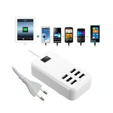 O17 30W universal 6 Port USB Hub Ladegerät Netzteil Adapter Aufladen 230V 5V 6A