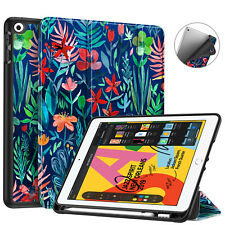 """For iPad 7th Gen 10.2"""" 2019 Case Back Smart Stand Cover w/ Apple Pencil Holder"""