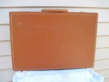 "Vintage Rare Brown Hard Shell Attache Brief Case 17"" X 11 1/4"" X 4 UEC"