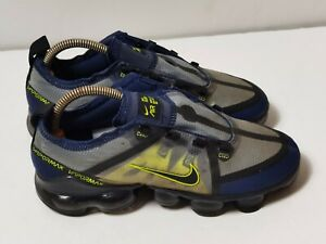 Nike Air Vapormax Black Neon Green Size 5.5 Trainers Sneakers Shoes