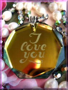 Vintage Valentine Necklace Swarovski I LOVE YOU Pendant and FW Pearls Sterling